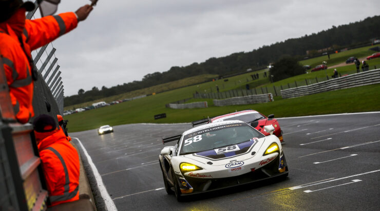 HHC Motorsport takes third British GT4 win at a wet Snet
